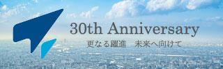 東海ソフト開発30周年バナー